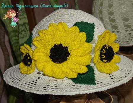 """Шляпка-панамка """"Южное солнце"""" для девочки ручной работы на заказ"""