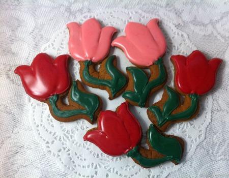 Цветочки тюльпаны 10 см ручной работы на заказ