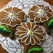 Пряники цветочки ромашки 10 см