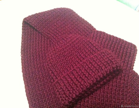 Комплект шарф и шапка мужской ручной работы на заказ