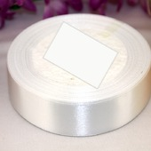 Атласная лента  25мм цвет белый