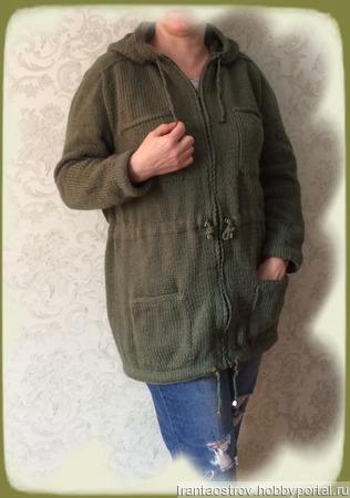 """Мастер-класс по вязанию """"Куртка """"Парка"""" на молнии, с капюшоном ручной работы на заказ"""