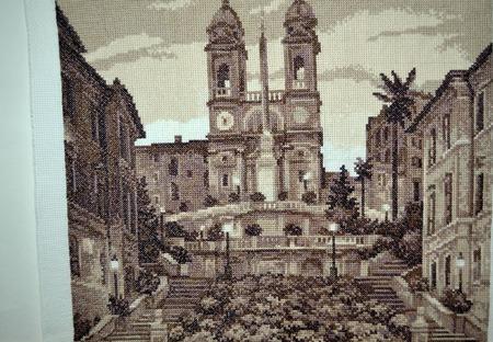 """Вышивка крестом картина """"Испанская лестница"""" ручной работы на заказ"""