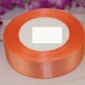 Атласная лента  25мм оранжевый цвет