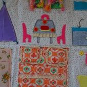 Текстильный кукольный домик