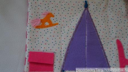 Текстильный кукольный домик ручной работы на заказ