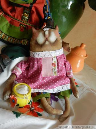 """Текстильная интерьерная кукла """"Женишок -казачок-Вася"""" ручной работы на заказ"""