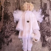 "Текстильная интерьерная кукла ""Ангел"""