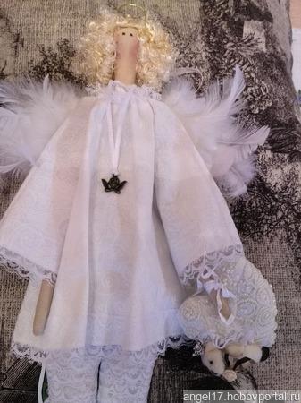 "Текстильная интерьерная кукла ""Ангел"" ручной работы на заказ"