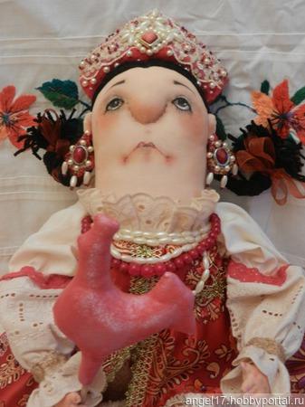 "Кукла интерьерная текстильная ""Царевна-Несмеяна"" ручной работы на заказ"