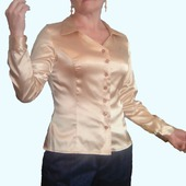 """Женская блузка"""" GOLD"""" из атласа-стретч."""