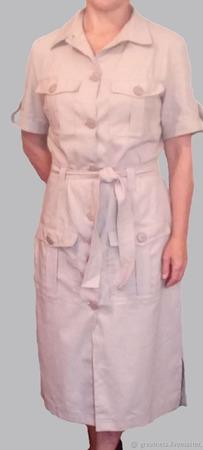 """Платье-рубашка в стиле """"САФАРИ"""" ручной работы на заказ"""
