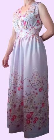 """Летнее платье  """"SAKURA"""" ручной работы на заказ"""