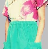 """Летняя юбка из хлопковой ткани """" EVELIN"""""""