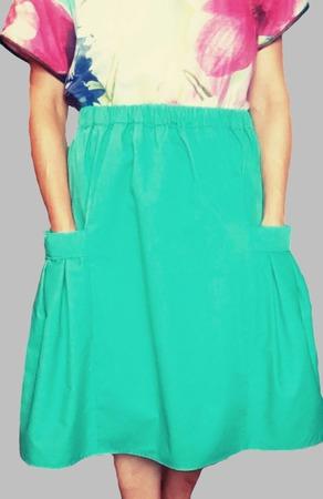 """Летняя юбка из хлопковой ткани """" EVELIN"""" ручной работы на заказ"""