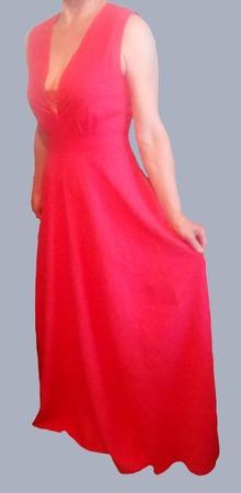 """Льняное платье-сарафан в пол """"SCARLET"""" ручной работы на заказ"""