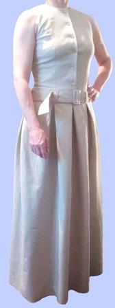 """Платье в пол из льна """"EVERIN"""" ручной работы на заказ"""