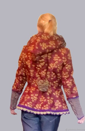 """Курточка с баской """"MIMOSA"""" хлопковая ручной работы на заказ"""
