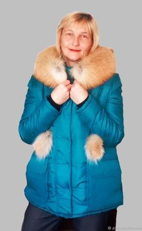 """Зимняя, женская куртка с мехом лисы """"ELLEN"""" ручной работы на заказ"""