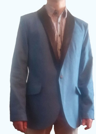 """Мужской, джинсовый  смокинг  """" DENIM BLUES"""" ручной работы на заказ"""