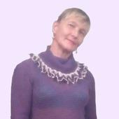 """Женский , вязанный пуловер"""" EZHEVICHKA """""""