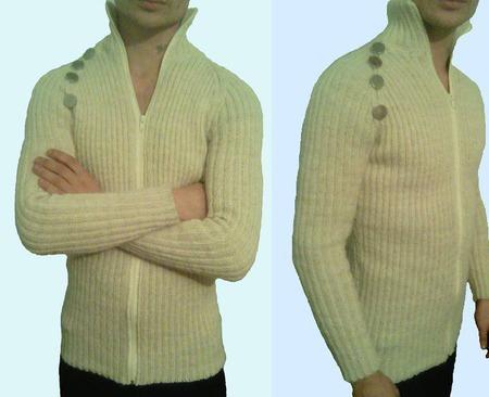 "Мужской, вязанный пуловер""DENDI"" ручной работы на заказ"