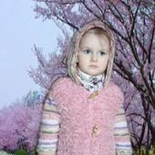 """Вязаное пальто для девочки  """"FANTASY"""""""