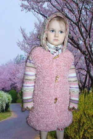 """Вязаное пальто для девочки  """"FANTASY"""" ручной работы на заказ"""