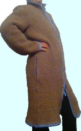 """Вязанное демисезонное пальтишко """"IRISHKA"""" ручной работы на заказ"""