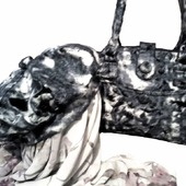 """Женская сумка и беретка из войлока """"QUIET EVENING"""""""