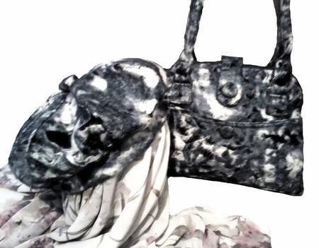 """Женская сумка и беретка из войлока """"QUIET EVENING"""" ручной работы на заказ"""