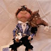 """Интерьерная текстильная кукла """"Заморский принц"""""""