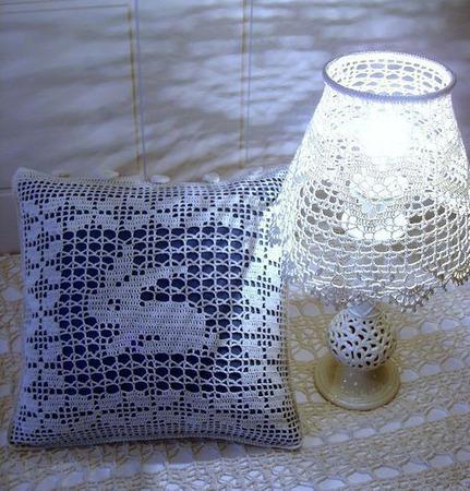Абажур для настольной лампы, вязаный крючком ручной работы на заказ