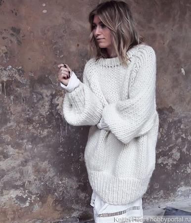 Вязаный свитер толстой вязки ручной работы в Екатеринбурге ручной работы на заказ
