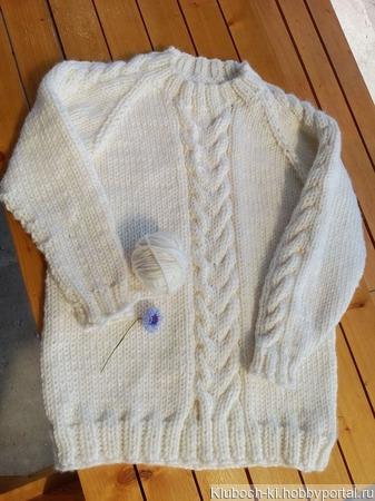 Женский свитер с косами ручной работы ручной работы на заказ