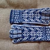 Перчатки зимние из мериносовой шерсти