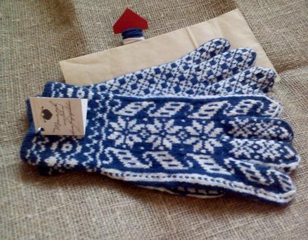 Перчатки зимние из мериносовой шерсти ручной работы на заказ