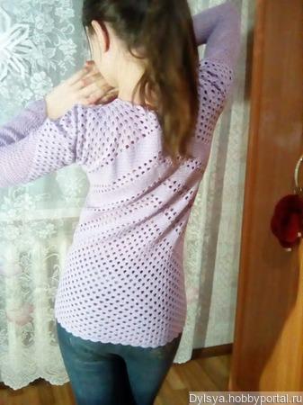 Блузка вязанная крючком ручной работы на заказ