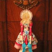 """Текстильная интерьерная кукла-тильда """"Ангел"""" в розовых тонах"""