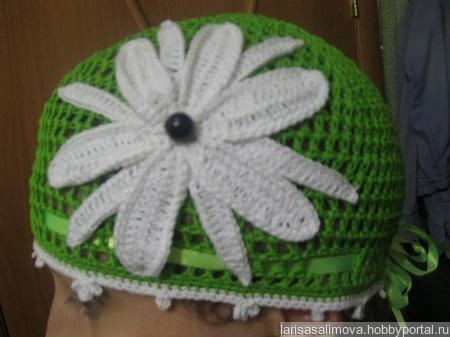 Летняя шапка ручной работы на заказ