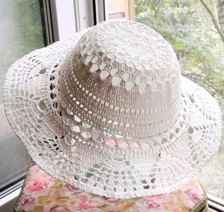 Шляпа вязаная ручной работы на заказ