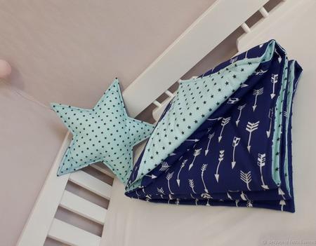 Одеяло детское стеганое ручной работы на заказ