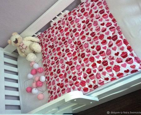 Одеяло детское из американского хлопка ручной работы на заказ