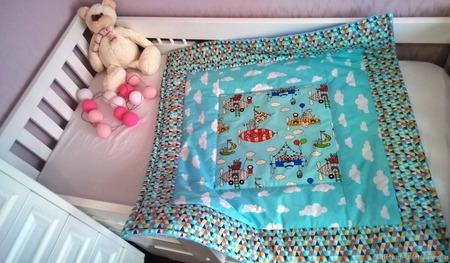 Детское одеяло из американского хлопка ручной работы на заказ