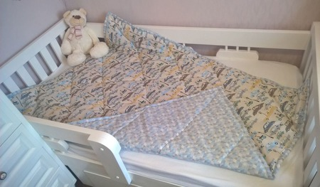Одеяло стеганое для мальчика ручной работы на заказ