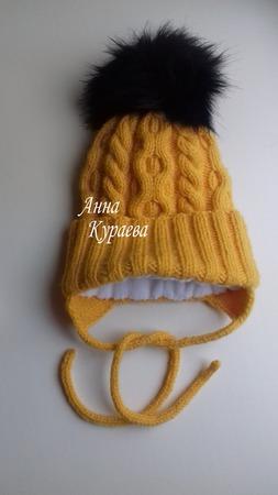 Зимняя шапочка ручной работы на заказ