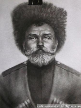 Портрет по фотографии ручной работы на заказ