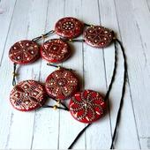 Бусы - лонгур Вермей с браслетом- украшение на каждый день