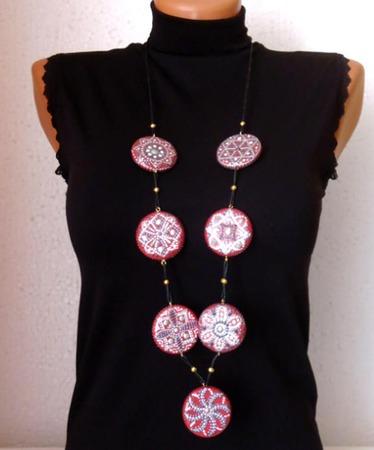 Бусы - лонгур Вермей с браслетом- украшение на каждый день ручной работы на заказ