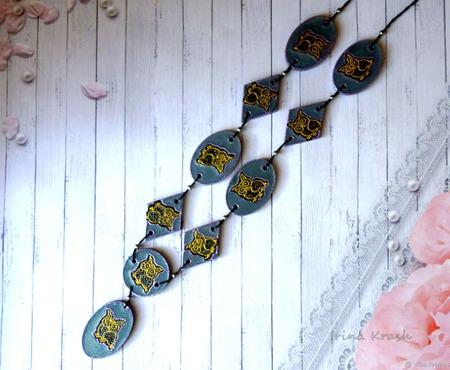 Бусы - лонгур Филин - украшение на каждый день ручной работы на заказ